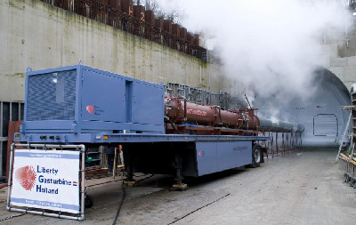 Steamexfire 2500-mobiel during inertisation of a tunnel