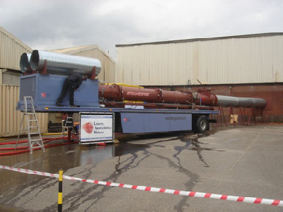 Steamexfire 2500-mobiel during inertisation of a factory storage